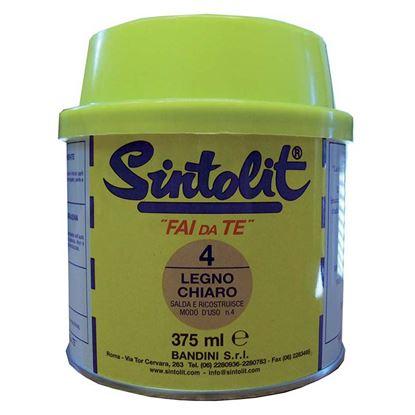 Immagine di Stucco, Sintolit, per legno, 0,375 lt, colore legno chiaro
