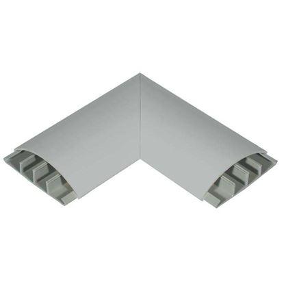 Immagine di Curva piana, colore grigio, 75x18 mm