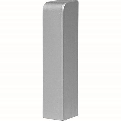 Immagine di Terminale destro, colore alluminio, altezza 70 mm