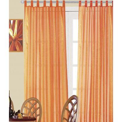Immagine di Coppia tenda Ambra, in organza, 140xh280 cm, colore arancione