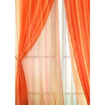 Immagine di Coppia tende Ravello, doppia calata, raso e organza, 140xh280 cm, colori assortiti