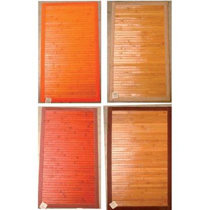 Immagine di Tappeto bamboo, fondo antiscivolo, fantasia quadretti, 52x140 cm
