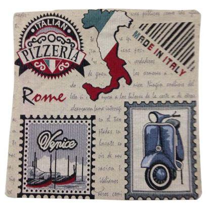 Immagine di Cuscino arredo Gobelin, 100% cotone, 40x40 cm, fantasia italia