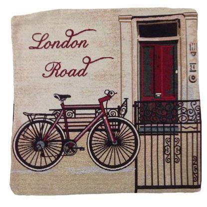 Immagine di Cuscino arredo Gobelin, 100% cotone, 40x40 cm, fantasia london road