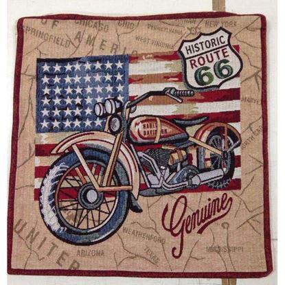 Immagine di Cuscino arredo Gobelin, 100% cotone, 40x40 cm, fantasia america