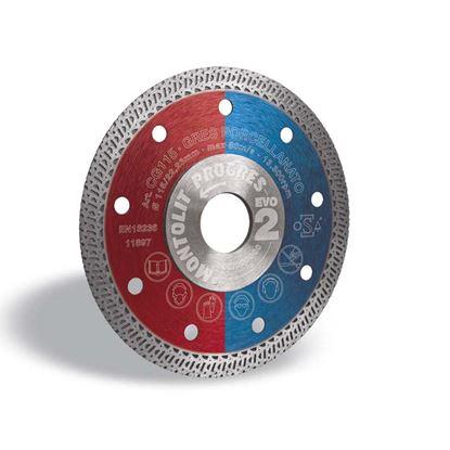 Immagine di Disco diamantato, corona turbo, per gres porcellanato, Ø 115 mm