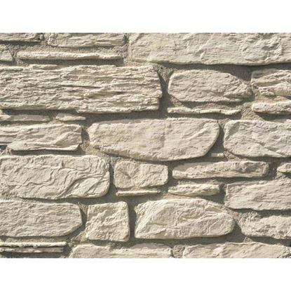 Immagine di Placchetta Ustica, in cemento, formati irregolari, da esterno e interno, confezione da 1 m², colore bianco