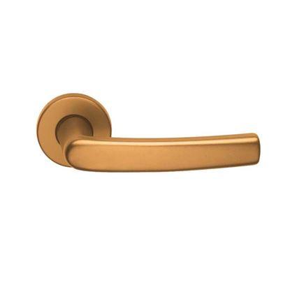 Immagine di Maniglia rosetta, foro patent, Q8, colore bronzo