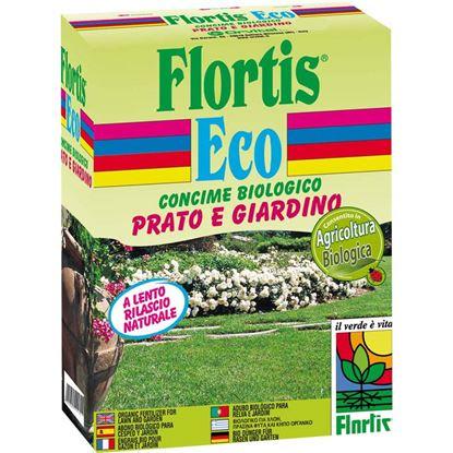 Immagine di Concime Flortis, micropellet biologico, prato e giardino, 1,5 kg