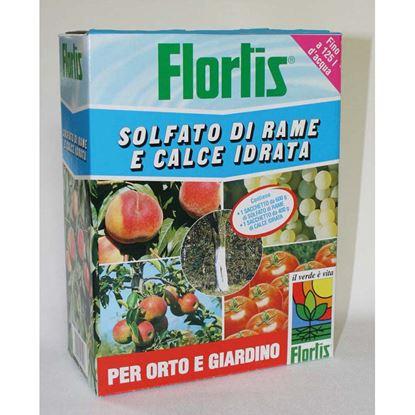 Immagine di Concime Flortis, polvere, solfato di rame e calce idrata, per orto e giardino, 1 kg