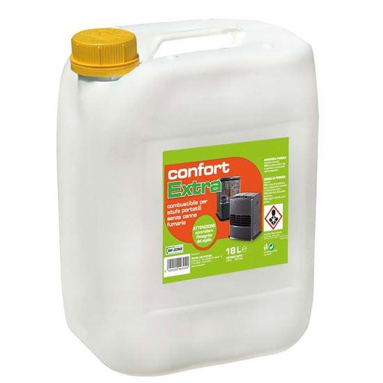 Immagine di Combustibile Confort Extra 18 lt, combustione senza fumo, stabilità di fiamma