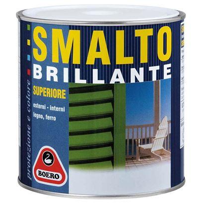 Immagine di Smalto brillante Boero, 0,75 lt, colore verde vittoria