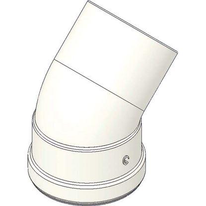 Immagine di Curva alluminio 45°, con guarnizione, MF Ø 80 mm