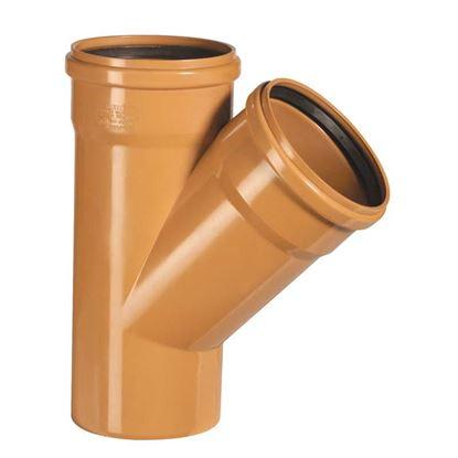 Immagine di Braga Semplice 45° PVC, per fognature e scarichi interrati, SN 4, EN 1401, Ø250 mm, spessore 6,2 mm