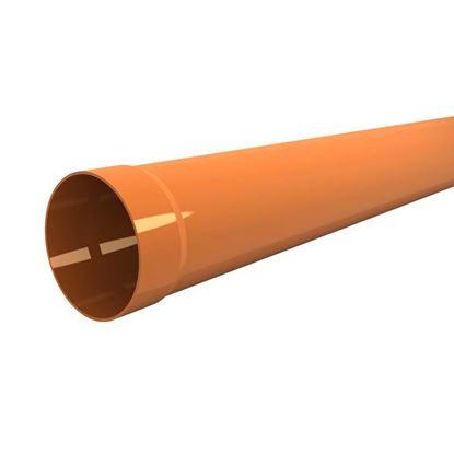 Immagine di Tubo in PVC, per scarichi civili ed industriali F/N, colore arancio, Ø mm 50x1 mt