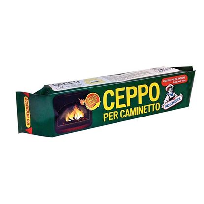 Immagine di Ceppo per caminetto, inodore, si accende direttamente l'involucro, brucia per 2/3 h, 1,3 kg