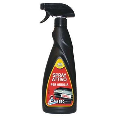 Immagine di Spray per griglie, schiuma attiva, scioglie i residui di grasso, per barbecue, 500 ml