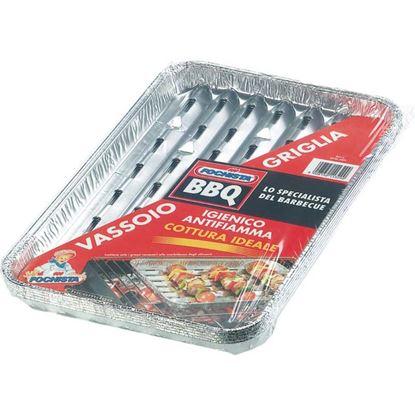 Immagine di Vassoio griglia, in alluminio, per barbecue, 5 pezzi