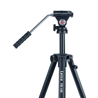 Immagine di Treppiede Leica, Tri100, in alluminio, livella a bolla, testa ad inclinazione, gambe estensibili, altezza da 70 a 172 cm