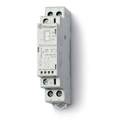 Immagine di Contattore, 25 A, 2 contatti, 17,5 mm 24V, AgSnO2 x lampade