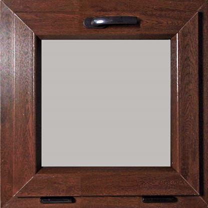 Immagine di Finestra Pvc, apertura vasistas, doppio vetro, 5 camere, colore noce scuro, 60xh60 cm