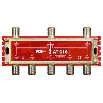 Immagine di Derivatore TV-SAT, classe A, -16 dB, 6 vie