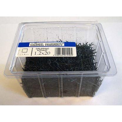 Immagine di Punte gruppino, scatola trasparente, 1 kg, 12x40 mm