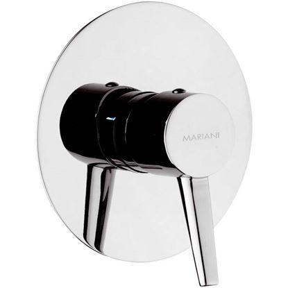 Immagine di Miscelatore incasso doccia Stilnovo, ottone, finitura cromo lucido, cartuccia a dischi ceramici Ø 35 mm, flessibili Ø 35