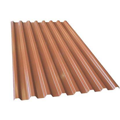 Immagine di Lastra Grecolina, per copertura carico di rottura 871 kg/mq , colore rosso, 200x106 cm
