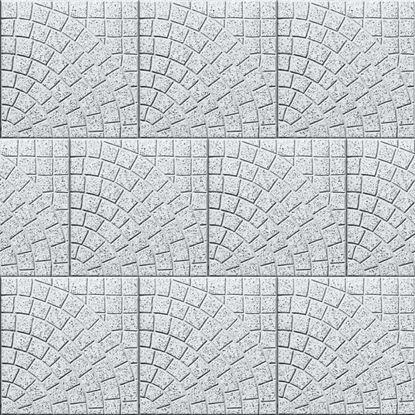 Immagine di Lastre Sardategole, in calcestruzzo, per aree trafficate UNI EN 1339, ventaglio grigio