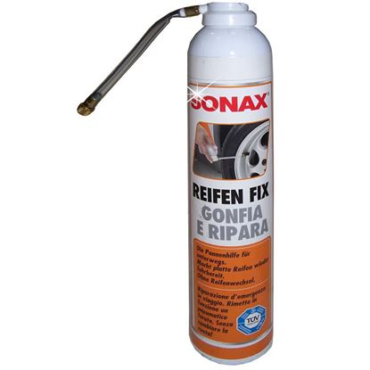 Immagine di Gonfia e ripara Sonax, consente la riparazione dei pneumatici, chiude i fori e gonfia il pneumatico, spray 400 ml