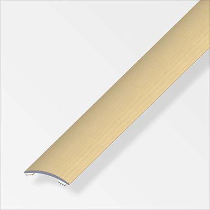 Immagine di Profilo per raccordo, 1,0 mt, 37x2,5 mm, titanio