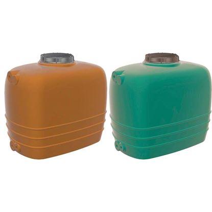 Immagine di Linea Aquarius cisterna orizzontale, color terracotta, da 3000 lt