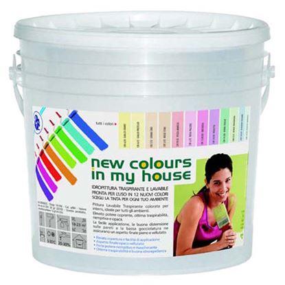 Immagine di Idropittura lavabile traspirante, per interno, resa 20-40 m² con 1 latta, 4 lt, colore rosa pallido