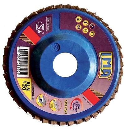 Immagine di Disco lamellare abrasivo per metallo, coridone, Ø115 mm, grana 120