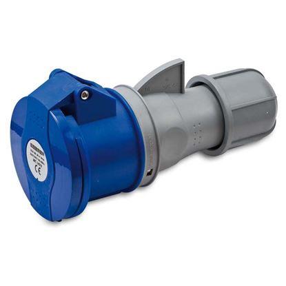 Immagine di Presa industriale dritta, protetta, cablaggio rapido, bassa tensione, 16 A, IP44, 230 V, 2P+T