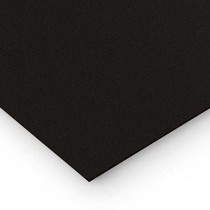Immagine di Poli propilene compatto nero, 100x50 cm
