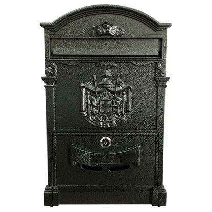 Immagine di Cassetta postale tipo Residence, in alluminio, con serratura e cilindro, colore verde