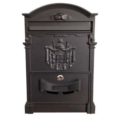 Immagine di Cassetta postale tipo Residence, in alluminio, con serratura e cilindro, colore nero