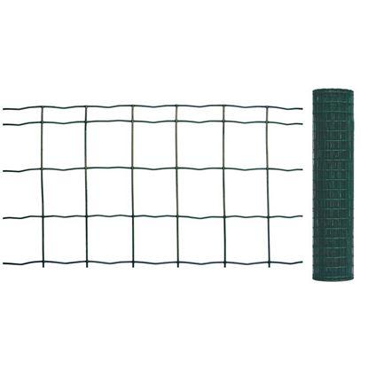 Immagine di Rete zincata plasticata, per uso residenziale, maglia 76,2x50,8 mm, rotolo 25 mt, h 99 cm