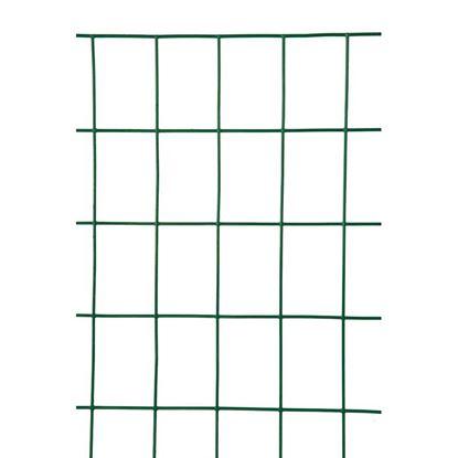 Immagine di Rete zincata plasticata, per uso residenziale, maglia 76,2x50,8 mm, rotolo 25 mt, h 183 cm