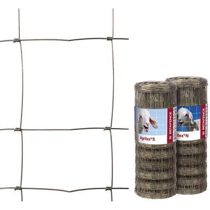 Immagine di Rete zincata a maglia annodata, specifica per recinzioni zootecniche, rotolo 50 mt, h 100 cm, maglia 8x15 cm