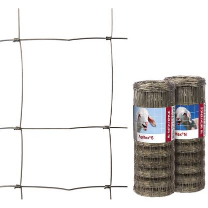 Immagine di Rete zincata a maglia annodata, specifica per recinzioni zootecniche, rotolo 50 mt, h 150 cm, maglia 12x15 cm
