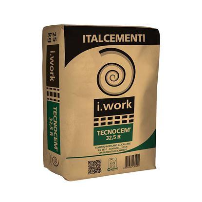 Immagine di Cemento Tecnocem II/B-LL 32,5R, cemento Portland,  tipo II, per strutture di fondazione, 25 kg