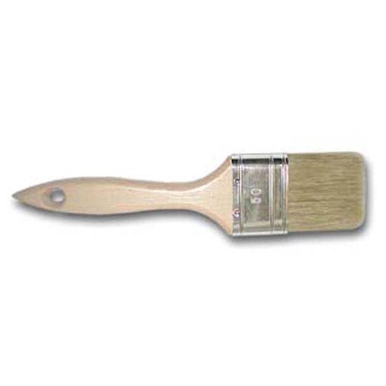Immagine di Pennello piatto manico legno, setola bionda mista, 70 mm