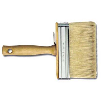 Immagine di Plafoniera manico legno, setola bionda mista, 140x40 mm