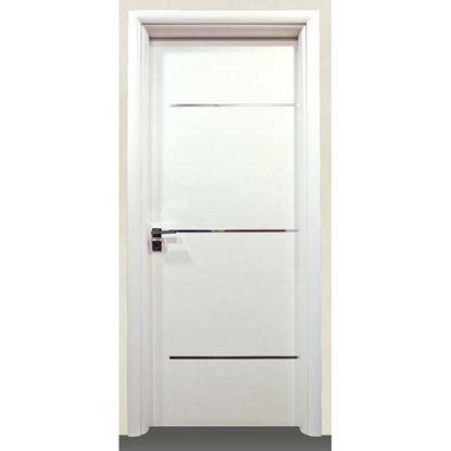 Immagine di Porta greta bianco batt., revers., 78x214 cm, telaio piatto, acc. crs