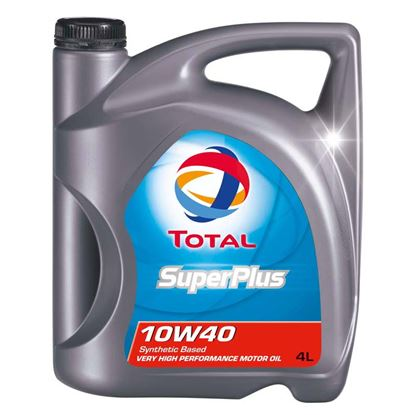 Immagine di Olio Total, super plus, semisintetico, 10W-40, 4 lt