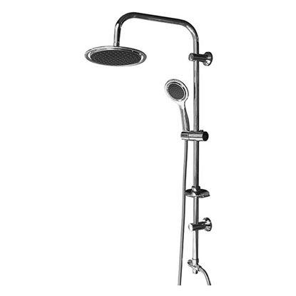 Immagine di Colonna doccia, in acciaio, soffione anticalcare, Ø 200 cm, doccetta anticalcare,  Ø 12 cm
