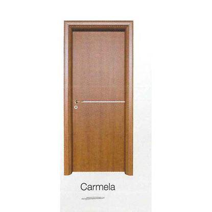 Immagine di Porta carmela rovere sbiancato battente, reversibile, telaio piatto, accessori crs, 78x214 cm